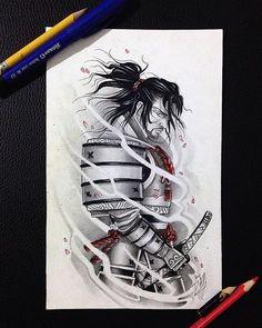 Samurai  -  #tattoo #arttattoo #ink #inked #tattooart #tattooink #tattooed…