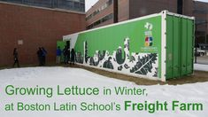 Boston Latin School senior Taran Wise explains how students grow lettuce in the middle of winter at the school's Freight Farm. (Full story here: http://wbur....