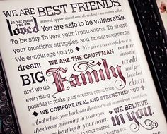 Personalized Family Manifesto - creating a loving environment in your home via SouthernGirlRamblings.com