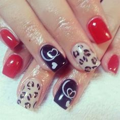 red-a-kill, vanilla creme brulee' and the ever present abyss black animal print  LED-polish-manicure-OPI-Nail-Polish-Lacquer-Pedicure-care-natural-Gel-Nail-Polish-beauty-tips-Acrylic-backfill- Nails-Nail-Art-USA-UK