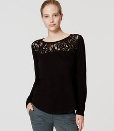 Thumbnail Image of Primary Image of Lacy Long Sleeve Tee