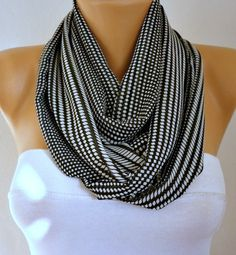 Polka dots  Infinity Scarf Shawl Circle Scarf  Loop  by anils, $19.50