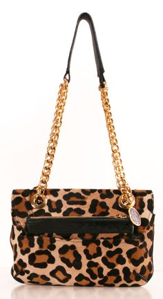 pony hair cheetah print handbag
