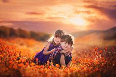 Poppies, California Poppies, Field of Poppies, Kids in Flowers, Field of…