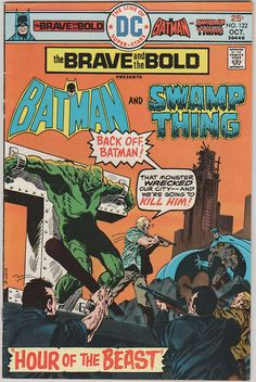 Brave and the Bold V1 122.  VF  Oct 1975.  DC by RubbersuitStudios #batman #comicbooks #swampthing