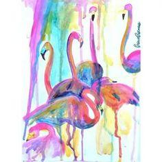 Flamencos #watercolors #illustration #paint #pintura #pincel #acuarela #art #artist #animal #dibujo #drawing #flamencos #flamingos #gotas #colors #colores #caroccorreadibujos #multicolor  - caroccorrea via Instagram