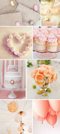 wedding color combination: peach and blush