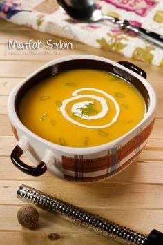 Pumpkin Soup - Kitchen Secrets - Practical Recipes - the balkabagi_corba - Pumpkin Soup, Pumpkin Recipes, Carrot Soup, Hot Dog Recipes, Soup Recipes, Pollo Piccata, Turkish Recipes, Ethnic Recipes, Wie Macht Man