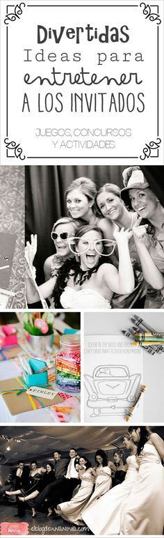 Divertidas Ideas para entretener a los Invitados de la Boda | El Blog de una Novia | http://www.elblogdeunanovia.com/la-fiesta/divertidas-ideas-para-entretener-a-los-invitados-de-la-boda/