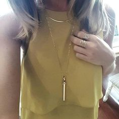 The ever popular Rebel Pendant layered with the Crescent necklace | Stella & Dot http://www.stelladot.co.uk/shop/en_gb/jewelry?s=ClareWatkins