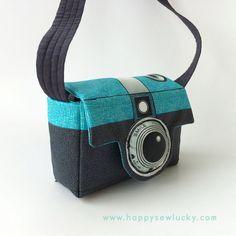 Retrotastic Camera Camera Bag - Fabric panel. $17.00, via Etsy.