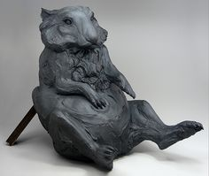Sculpture from ceramic artist Beth Cavener Stichter. If you can ever take a workshop from her-she's an incredible teacher and very generous with her vast expertise.