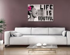 Buy Life is Beautiful Banksy Artwork Print on Canvas Artworks Onlin Banksy Work, Banksy Wall Art, Graffiti Artwork, Street Art Graffiti, Banksy Canvas Prints, Canvas Artwork, Artwork Prints, Canvas Prints Australia, Australian Art