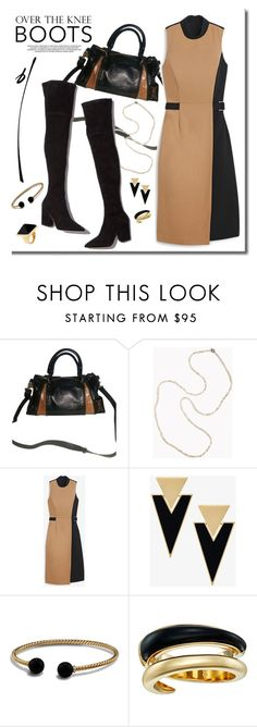 """Work it"" by adduncan ❤ liked on Polyvore featuring Badgley Mischka, Brunello Cucinelli, Loeffler Randall, White House Black Market, Yves Saint Laurent, David Yurman, Michael Kors, Kenneth Jay Lane, WorkWear and OverTheKneeBoots"