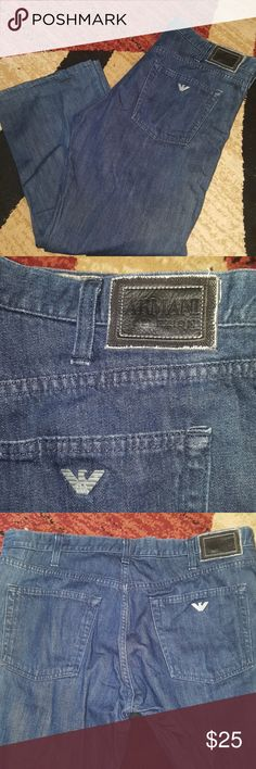 """Men's Armani collezioni jeans Good shape, inseam measures at approx 27"""", comes from a smoke and pet free home. Armani Collezioni Jeans Relaxed"""