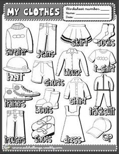 English Teaching Resources, Learning English For Kids, English Worksheets For Kids, English Activities, Vocabulary Activities, Preschool Worksheets, English Language Learners, English Vocabulary, English Grammar