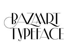 Specimen of the Bazaart Typeface.