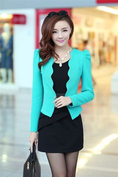 New Arrival Korean Style Slim Two Pieces Dress Suit: tidestore.com