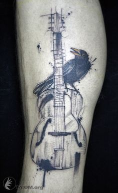 Black Bird  & guitar.