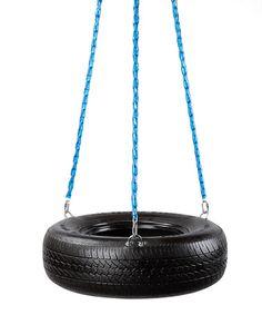 Blue Swivel Tire Swing