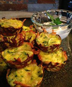 Mini Zucchini Parmesan Tarts