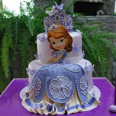 65 Ideas Birthday Cake Kids Girls Sofia For 2019 Princess Sofia Cake, Princess Sofia Birthday, Sofia The First Birthday Party, Tangled Birthday, Princess Party, Disney Princess, Bolo Sofia, Sophia Cake, Sofia The First Cake