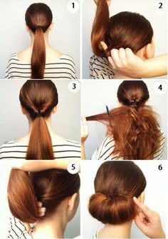 Here's chignon you kid Work Hairstyles, Straight Hairstyles, Indian Bun Hairstyles, Hairstyle Ideas, New Hair, Your Hair, Curly Hair Styles, Natural Hair Styles, Pinterest Hair
