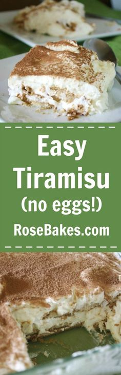 Easy Tiramisu without Eggs - delicious dessert recipe with easy to find ingredients!