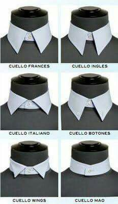 Vocabulario de moda/costura Bespoke Shirts, Fashion Vocabulary, Collar Designs, Mens Fashion, Fashion Outfits, Men Style Tips, Types Of Collars, Well Dressed Men, Gentleman Style