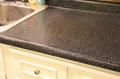 "Rustoleum countertop transformation | Countertop Transformations ""Charcoal"" Kit I used this on my countertops, It did take time and work, but was worth it."