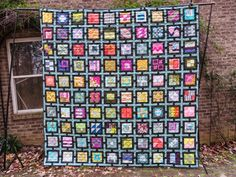 Dee Dee's City Sampler quilt - 100 modern quilt blocks by Tula Pink - love the setting!