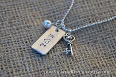 Personalized metal stamped necklace by LoveSquaredDesigns on Etsy