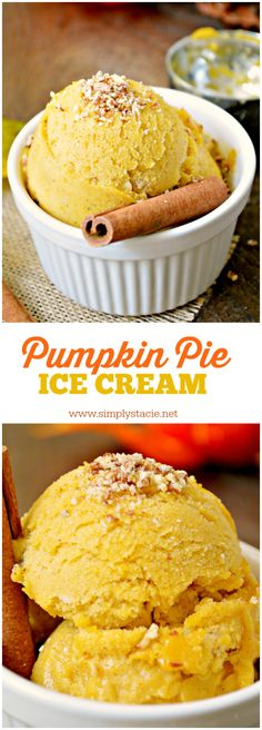 Pumpkin Pie Ice Cream - In the mood for pumpkin desserts? ME TOO. This recipe for pumpkin pie ice cream is to die for. Pin it now and make it later!