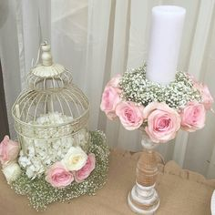 Pink & chic wedding decorations