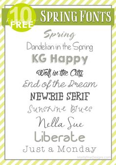 Perfect collection of free #Spring #Fonts. love them!