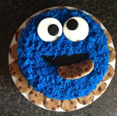 Cookie Monster Cake.. Found my birthday cake!
