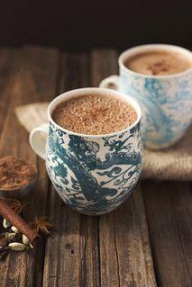 Chai Hot Chocolate | Tasty Yummies | Flickr. #coffee #coffeenearme #pourovercoffee #cappuccino #espresso #bulletproofcoffee #frenchpress #nespressopods #starbucksdrinks #starbuckscups #coffeebeans #coffeeshops #coffeelove Coffee Tasting, Coffee Cafe, Coffee Shop, Coffee Barista, Coffee Mugs, Tostadas, Chai, Café Chocolate, Mug Decorating