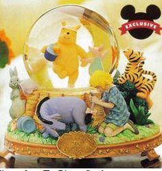 Disney Winnie the Pooh 75th Anniversary Snowglobe