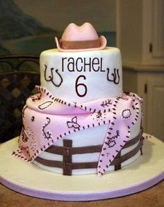 cowgirl birthday cake, could do red instead of pink for Jaces birthday Cowgirl Birthday Cakes, Cowgirl Cakes, Western Cakes, Horse Birthday Parties, Cowgirl Party, Birthday Party Themes, Horse Party, Birthday Ideas, 2nd Birthday