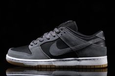 Take A Look At This Nike SB Dunk Low With Dark Grey Suede And Black Leather