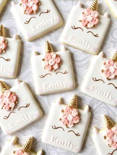 """This listing is for one dozen delicious decorated sugar cookies approximately 3.5"""" tall Please specify the name required in the note section of your order. Do not send a separate message after placing the order. Baked fresh with the finest, fresh ingredients and decorated with a"""