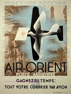 A M Cassandre Air Orient Poste Aerienne by estampemoderne.fr, via Flickr