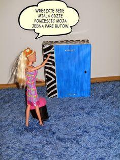 Meble dla Barbie - zrób je sam: garderoba dla fashionistki