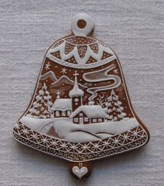 Today we are looking at Moravian and Bohemian gingerbread designs from the Czech Republic. Back home, gingerbread is eaten year round and beautifully decorated cookies are given on all occasions. Fancy Cookies, Royal Icing Cookies, Holiday Cookies, Cupcake Cookies, Christmas Goodies, Christmas Treats, Christmas Baking, Christmas Gingerbread House, Gingerbread Cookies