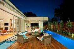 Pool Lighting, Island, Deck, Home in Canterbury, Australia