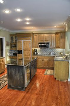 Gunstock Oak Solid Hardwood Floor Decor In 2020 Solid Hardwood Floors Interior Design Kitchen House Flooring