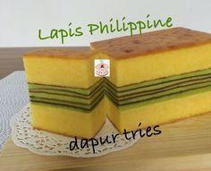 Aneka Resep Kue dan Masakan Enak: Lapis Philippine by. Pudding Desserts, Dessert Recipes, Lapis Surabaya, Bolu Cake, Lapis Legit, Resep Cake, Asian Cake, Layer Cake Recipes, Layer Cakes