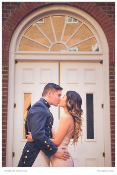 A romantic moment captured by PSK photography team during a couple portrait session for this military couple.