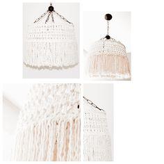 Lámpara de techo tejida 100% soga de algodón