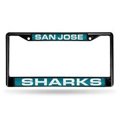 San Jose Sharks Laser Cut Black License Plate Frame #SanJoseSharks